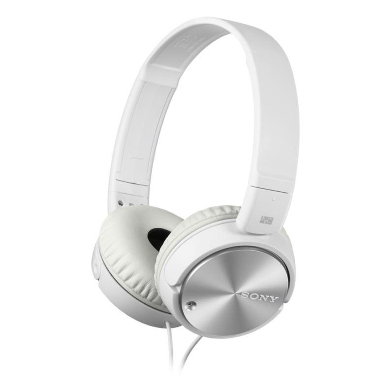 SONY MDR-ZX110NA - Sluchátka přes hlavu, Noise cancelling - White