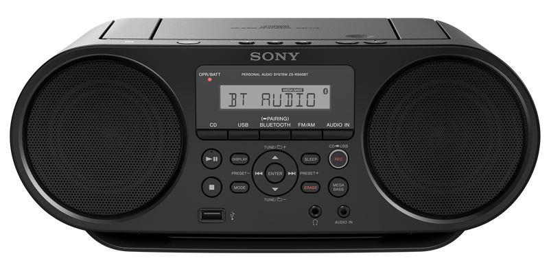 SONY ZS-RS60BT Přehrávač CD Boombox s technologií Bluetooth®