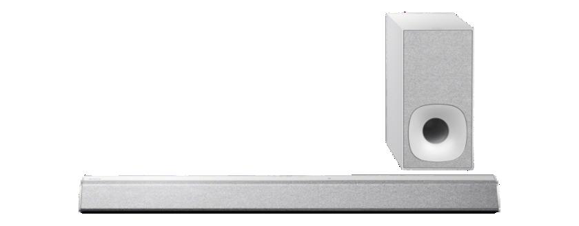Sony Soundbar HT-CT381, 300W, 2.1k, BT/NFC, stříbr