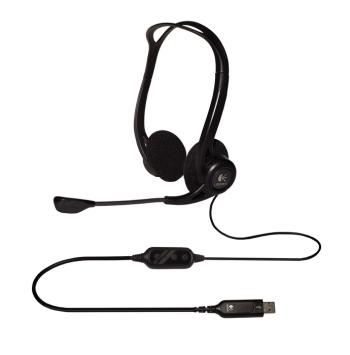 Logitech Headset 960 Stereo Headset USB, stereo sluchátka s mikrofonem, USB