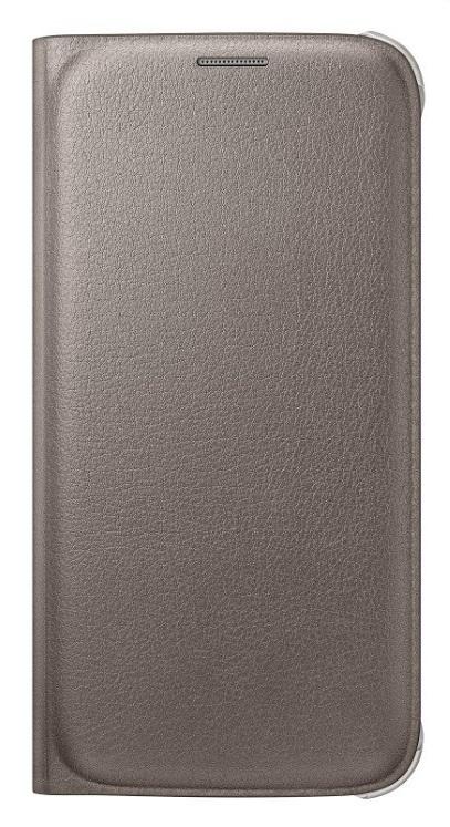 Samsung flipové pouzdro s kapsou EF-WG920P pro Samsung Galaxy S6 (SM-G920F), Zlatá