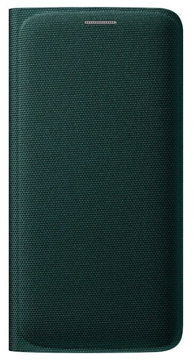 Samsung flipové pouzdro s kapsou EF-WG925B pro Samsung Galaxy S6 Edge (SM-G925F), zelená
