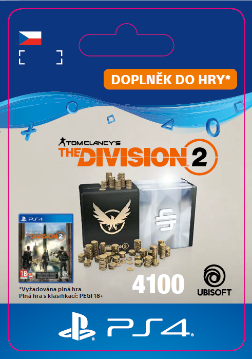 ESD CZ PS4 - Tom Clancy's The Division 2 – 4100 Premium Credits Pack