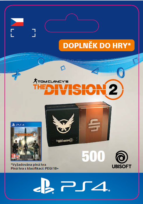 ESD CZ PS4 - Tom Clancy's The Division 2 – 500 Premium Credits Pack