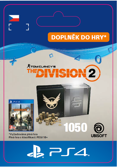 ESD CZ PS4 - Tom Clancy's The Division 2 – 1050 Premium Credits Pack