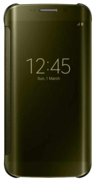 Samsung flipové pouzdro Clear View EF-ZG925B pro Samsung Galaxy S6 Edge (SM-G925F), zlatá