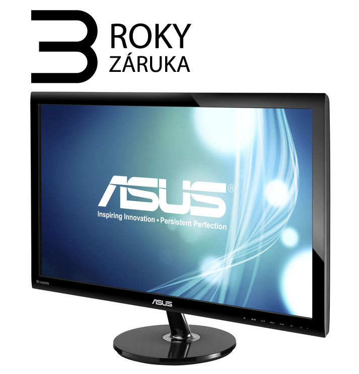 "ASUS MT 27"" VS278H 1920x1080, 300cd, 1ms, repro 2Wx2, RMS HDMI x 2, D-Sub, VESA 100x100mm"