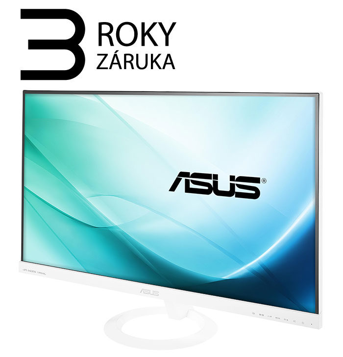 "27"" LED ASUS VX279H-W - Full HD, 16:9, HDMI, VGA, bílý, repro."