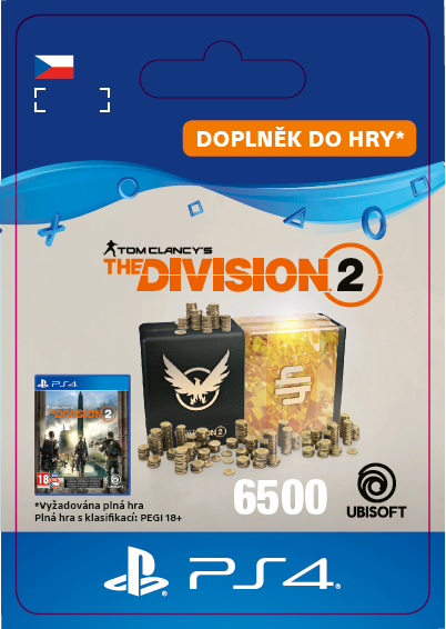 ESD CZ PS4 - Tom Clancy's The Division 2 – 6500 Premium Credits Pack