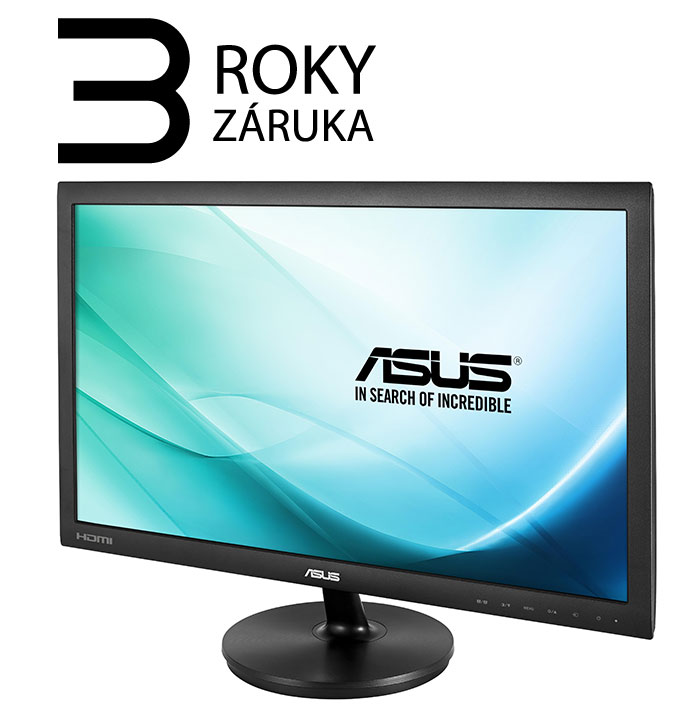 "24"" LED ASUS VS247HR -2ms,HDMI,DVI-D,VGA"
