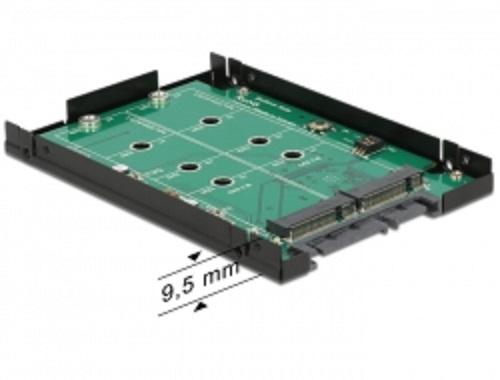 "Delock 2.5"" konvertor SATA 22 Pin > 2 x M.2 NGFF s RAID"