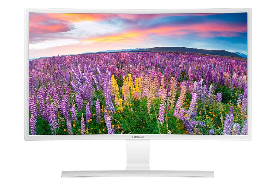 """Samsung LED LCD 27"""" S27E591CS - prohnutý, VA, 1920x1080, 4ms, 350cd, VGA, HDMI, DP, bílý"""
