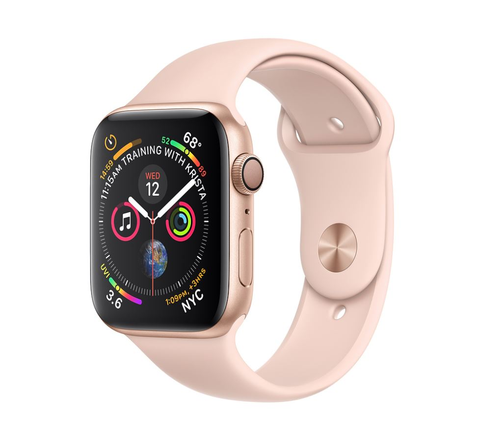 Watch S4, 44mm, Gold/Pink Sand Sport Band