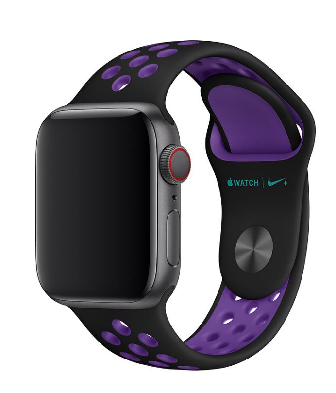 Watch Acc/40/Black/Hyper Grape Nike Sport Band