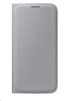 Samsung flipové pouzdro s kapsou EF-WG920B pro Samsung Galaxy S6 (SM-G920F), stříbrná