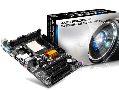 ASRock N68-GS4 FX, s.AM3/AM3+, GeForce 7025 / nForce 630a, 2xDDR3 1866, 4xSATA2 , RAID, GLAN, VGA, 5.1CH, uATX