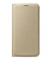 Samsung flipové pouzdro s kapsou EF-WG925B pro Samsung Galaxy S6 edge (SM-G925F), zlatá