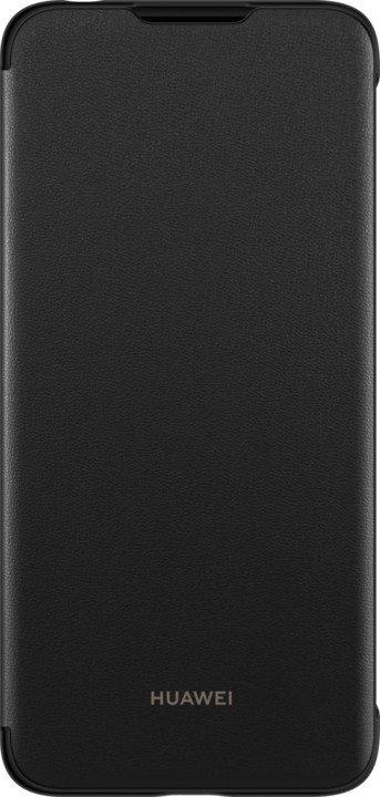 Pouzdro Huawei Flip Cover Y6 2019 černé Flipové pouzdro