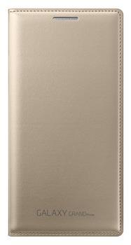 Samsung flipové pouzdro s kapsou EF-WG530B pro Samsung Galaxy Grand Prime (SM-G530), zlatá