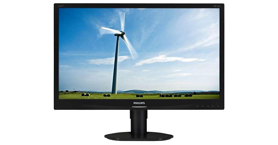 """Philips MT IPS LED 23"""" 231S4QCB/00 - IPS panel, 1920x1080, 250cd/m, 20M:1, D-Sub, DVI-D, pivot"""