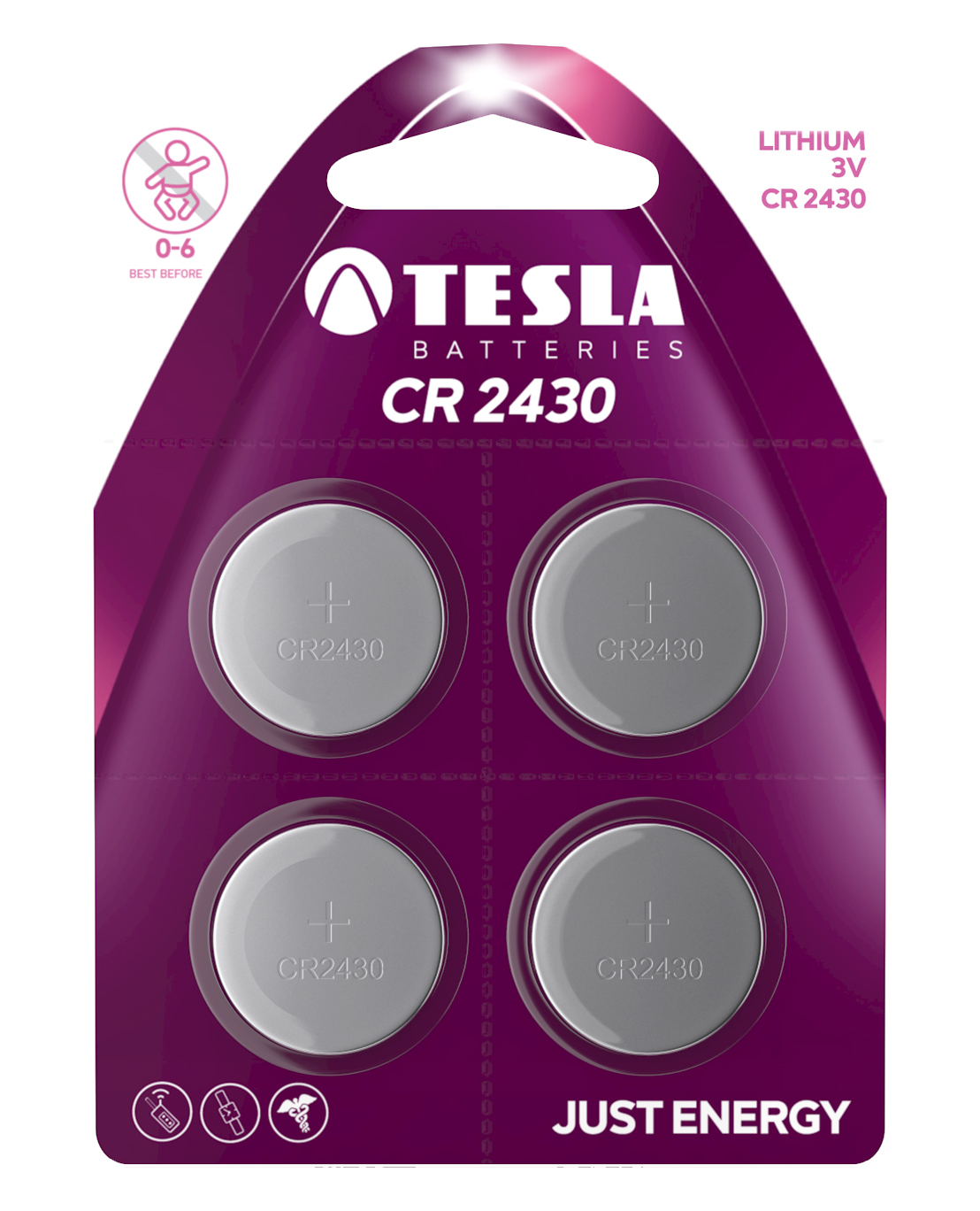 TESLA - baterie TESLA CR1632, 4ks, CR1632