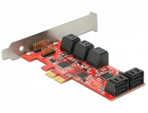 Delock PCI Express Card > 10 x internal SATA 6 Gb/s – Low Profile Form Factor