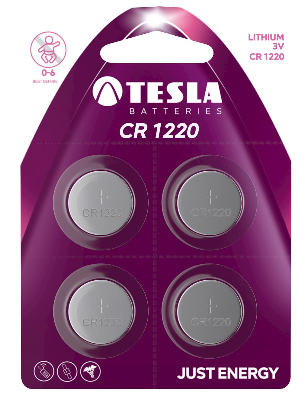 TESLA - baterie TESLA CR1220, 4ks, CR1220