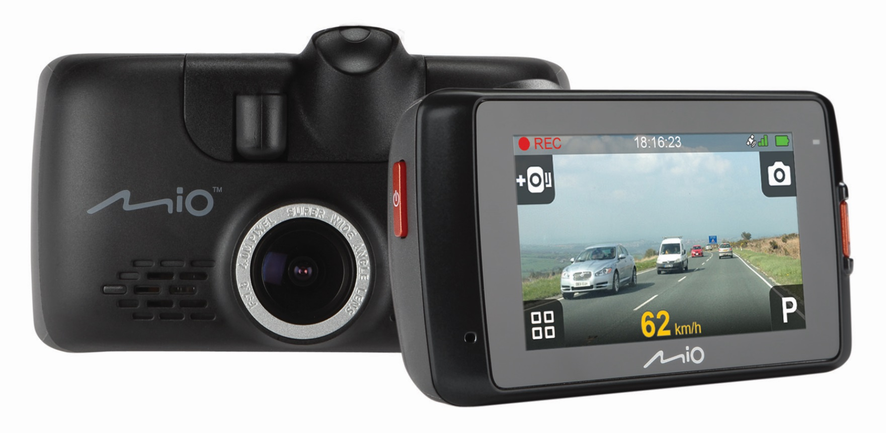 MIO MiVue 638 Touch 1080p DashCam - kamera pro záznam jízdy