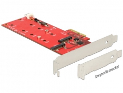 Delock PCI Express Card > 2 x internal M.2 NGFF – Low Profile Form Factor