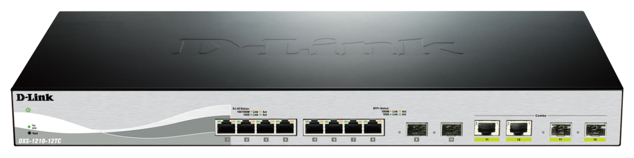 D-Link 12 Port switch including 8x10G ports & 4xSFP