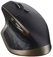 Logitech myš Wireless Mouse MX Master, Darkfield laser, dobíjení přes micro-USB, BT a unifying přijímač
