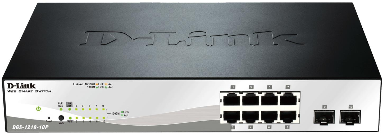 D-Link DGS-1210-10P 10port Gbit POE Smart Sw,2xSFP