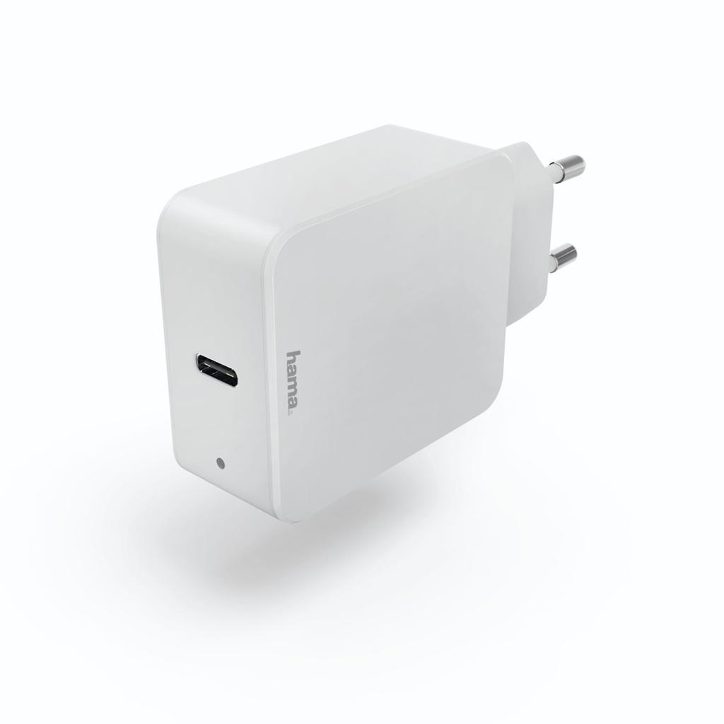Hama rychlá USB nabíječka, USB-C, Quick Charge 3.0 / Power Delivery, 18 W, bílá