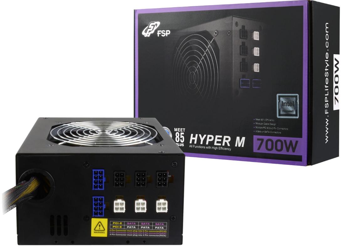 Fortron HYPER M 700, 700W, PCI-E, >85%, modular