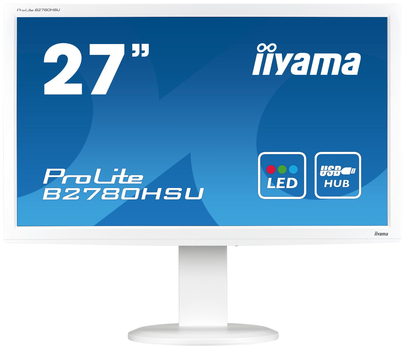 Iiyama LCD B2780HSU-W1 27'' LED,2ms,VGA/DVI/HDMI,USB,repro,1920x1080,HAS,pivot,b