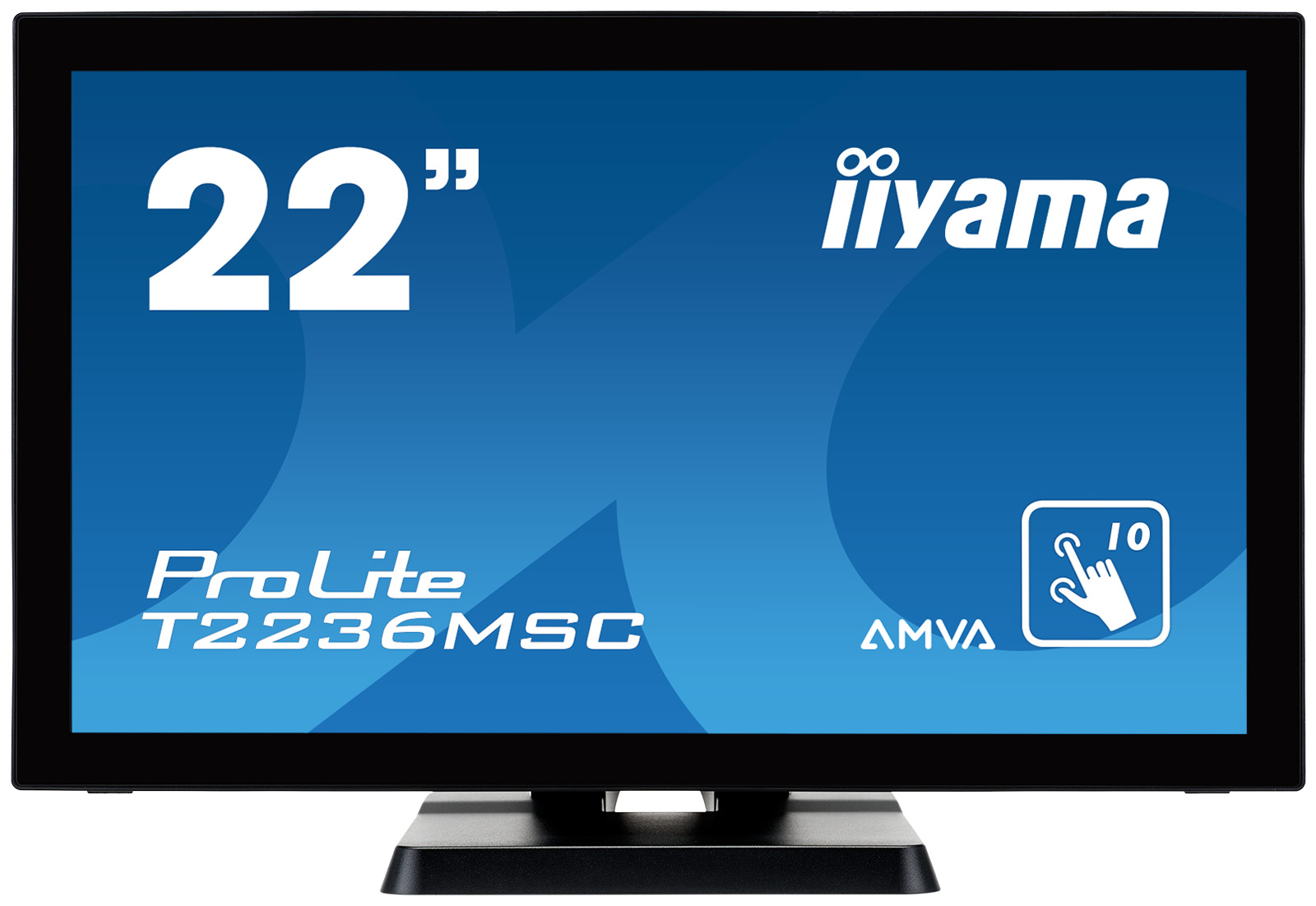 "22"" LCD iiyama T2236MSC-B2 - multidotekový, FullHD, AMVA, kapacitní, USB"