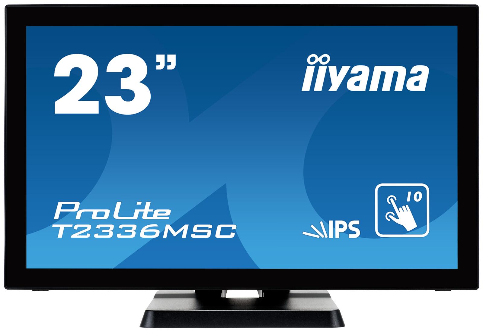 "23"" LCD iiyama T2336MSC-B2 - multidotekový, FullHD, IPS, kapacitní, USB"