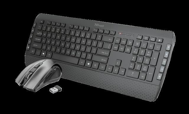 TRUST set klávesnice + myš Tecla-2 Wireless Multimedia Keyboard with mouse CZ/SK