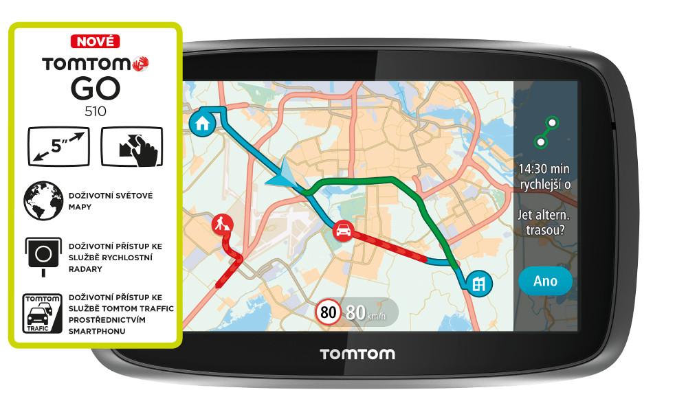 "TOMTOM GO 510 World Traffic Lifetime, 5"" displej"