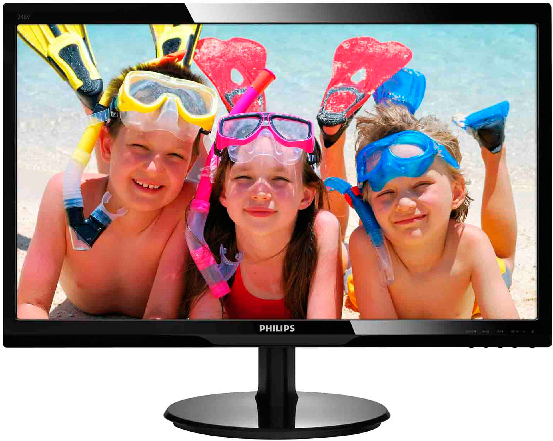 "24"" LED Philips 246V5LHAB - FullHD,HDMI,rep"