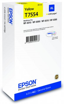 Ink Epson T7554 Yellow XL | WF-8010/WF-8090/WF-8510/WF-8590