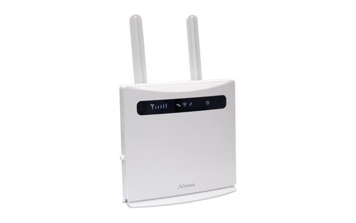 STRONG 4G LTE Router 300/ Wi-Fi standard 802.11 b/g/n/ 300 Mbit/s/ 2,4GHz/ 4x LAN (1x WAN)/ USB/ SIM CARD/ bílý