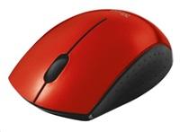 TRUST Myš Ovi Wireless Micro Mouse USB, červená, bezdrátová