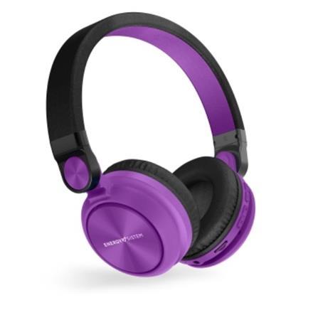 ENERGY Headphones BT Urban 2 Radio Violet, Bluetooth sluchátka s vestavěným FM rádiem a microSD MP3 přehrávačem
