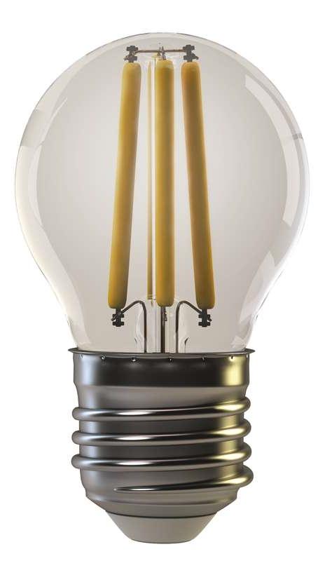 Emos LED žárovka Filament Mini Globe 4W/35W E27, WW teplá bílá, 400 lm