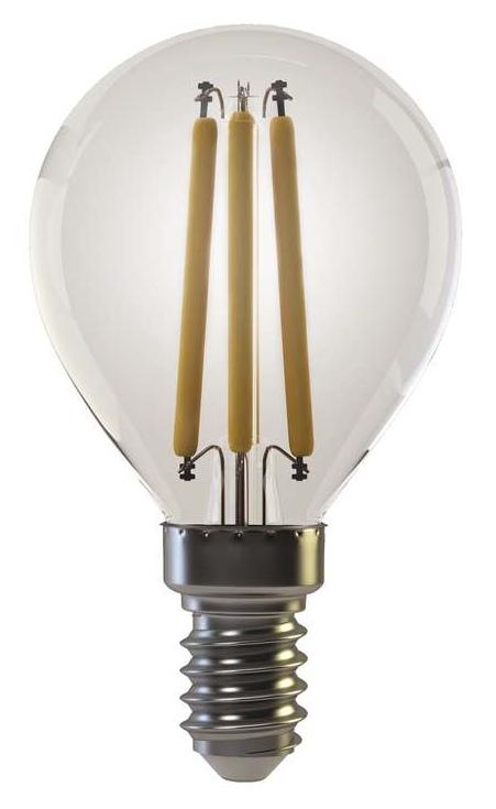 Emos LED žárovka MINI GLOBE, 4W/35W E14, WW teplá bílá, 400 lm, Filament A+