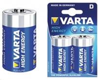 VARTA baterie alkalická D/LR20 1.5 V High Energy 2-blistr - VARTA-4920/2B