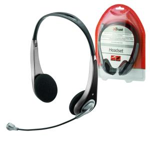 TRUST Sluchátka s mikrofonem InSonic Chat Headset