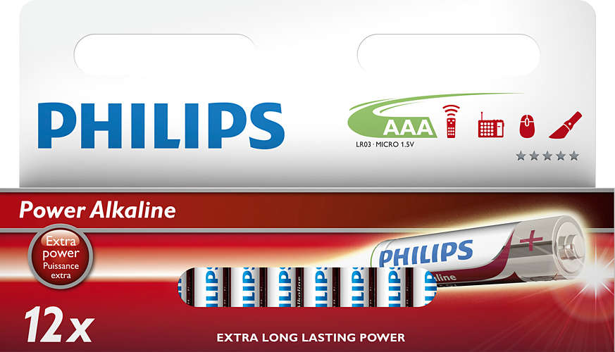 Philips baterie AAA Power Alkaline - 12ks