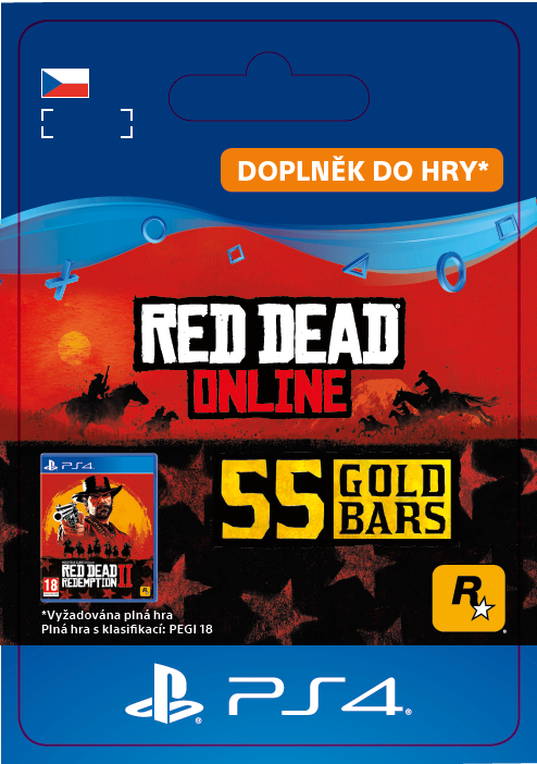 ESD CZ PS4 - Red Dead Online: 55 Gold Bars